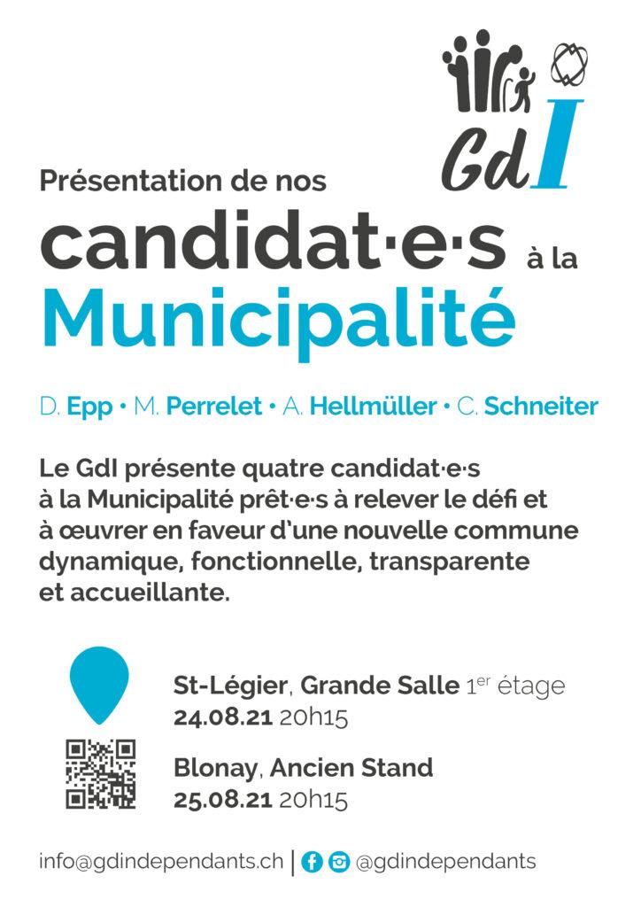 Présentation de nos candidat·e·s à la Municipalité